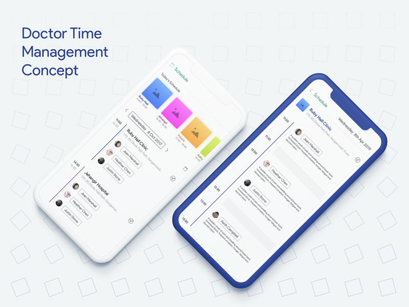 Doctor Time Management Concept app mobile ux schedule ui management time doctor