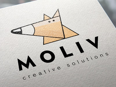 Moliv Creative Solutions Logo design illustration design logo