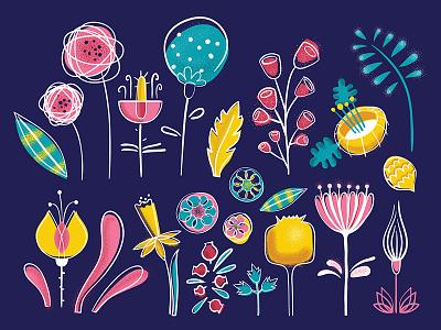 Decorative plants plants vector illustration