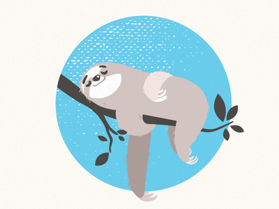 Sleepy Sloth t-shirt design adobe illustrator spirit animal vector illustration sloth