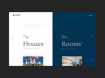 Angel Resort Main Page Animation motion ui video interaction colors typography homepage website animation property real estate
