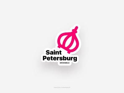 Saint-Petersburg - Hometown Sticker design icon typography logo vector branding warmup weekly warm-up dome dribbble illustration sticker saint hometown saint-petersburg