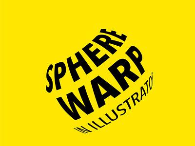 TEXT WARP typography icon logo vector illustration design branding