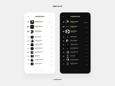 UI Challenge – Leaderboard list leaderboard game mobile app ux ui daily ui design dailyui