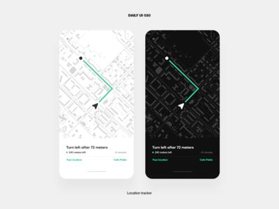 UI Challenge – Location tracker navigator navigation location tracker location maps map phone mobile app ux ui daily ui dailyui design