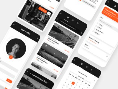 Arena — Mobile App clean minimalism booking app sections sport phone mobile app ux ui design