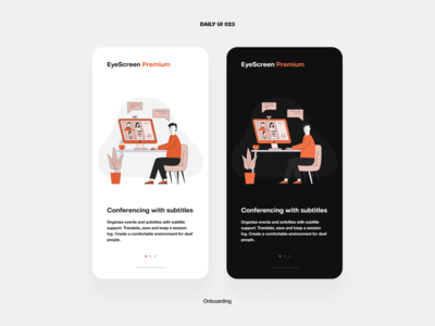 UI Challenge — Onboarding minimalism video conference online messenger call vector illustration mobile app ux ui daily ui dailyui