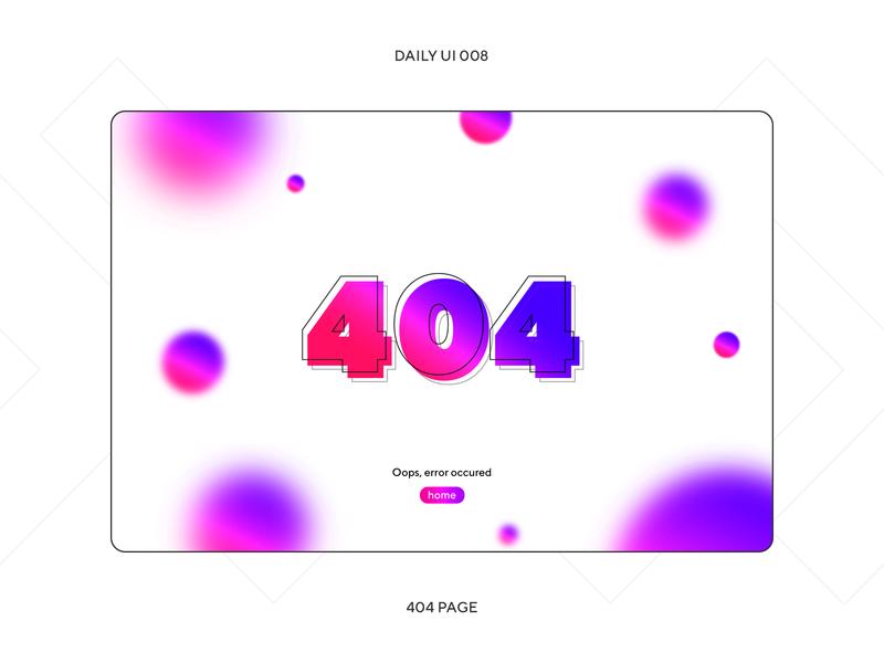 UI Challenge — 404 Page uidesign typography blur website design 404 error 404page error page website 404 uiux dayliui daily ui dailyui