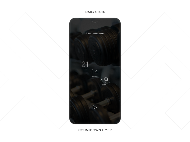 UI Challenge — Countdown Timer design clock countdown timer gym fitness sport phone mobile app ux ui daily ui dailyui daily ui 014