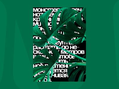 Monstera Plant — Banner / Poster ad brutalism brutal typography advertising banner poster