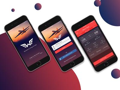 Wings Airline App ui ux concept wings airlines ios app