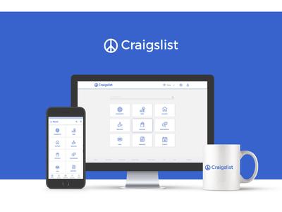Craigslist Redesign concept ui ux design craigslist redesign craigslist