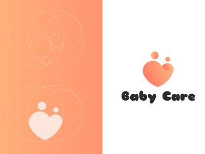 Baby Care Logo vector graphic golden ratio logo logo design mother care childcare baby care