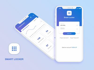 Smart Locker App ui ux ios app smartlocker