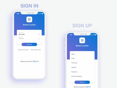 Smart Locker App ux concept ui ux ios smartlocker app