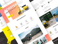 Scooterday landing page design