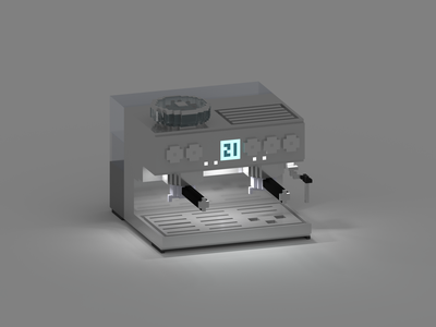 espresso machine machine espresso voxel 3d illustration isometric art coffee espresso machine isometric
