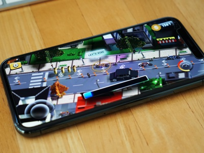 Gameplay Mode - User Interface - Rush Cycle isometric mobile game gameplay game design game road building city cyclist bicycle voxelart voxel 3d mockup iphone app ui ios animation