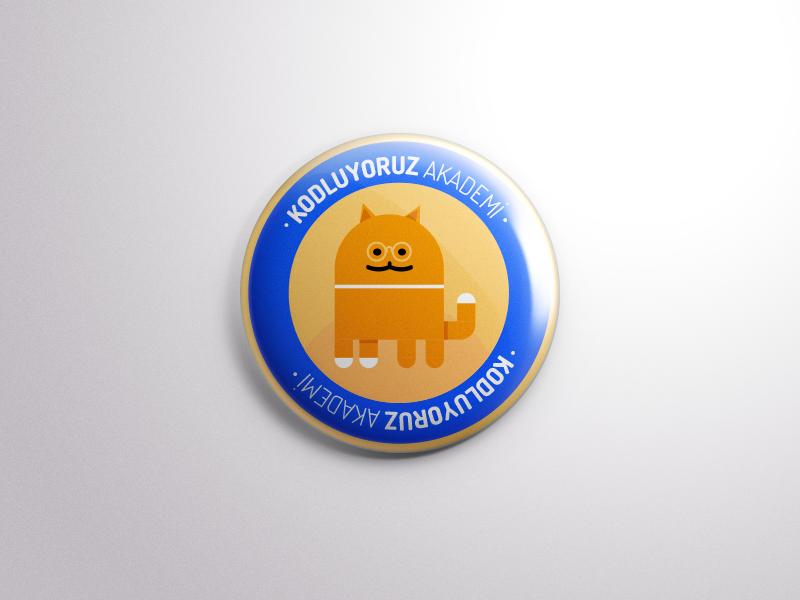 Kodluyoruz Akademi Badge akademi cat android badge kodluyoruz
