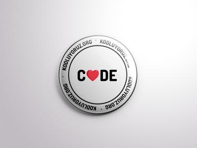 Kodluyoruz Badge (Love)
