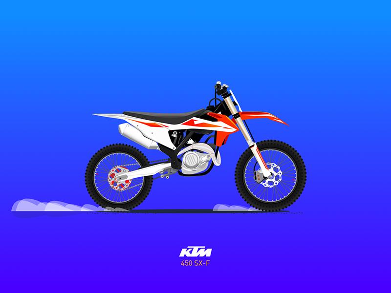 KTM 450 SX-F (.sketch) sketch motocycle vector draw illustration motocross enduro 450 bike dirt ktm