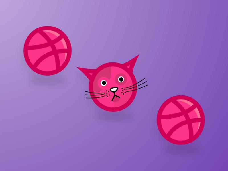 x3 Dribbble Invite sketch cat invites invitation giveaway illustration 3 invites