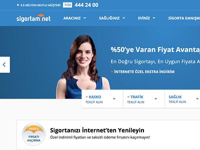 Sigortam.net Redesign design icon responsive website responsive redesign sigortam.net