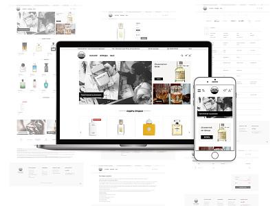 Online Store   perfumenichebar.com.ua typography illustration design webdesign ui graphic design branding