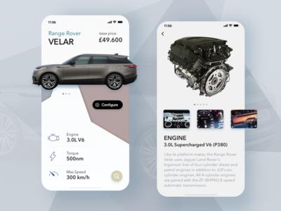 Range Rover Velar App.