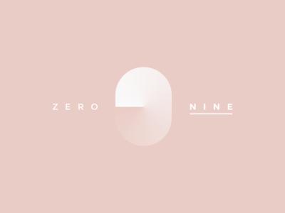09 app logo pink concept china icon ui nine number zero branding