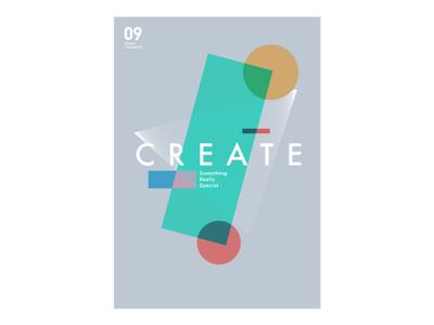 Poster2 app ux ui gray cube circular triangle green geometry design poster 09ui