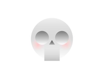 Skull skull ui icon head simple app china logo branding avatar shy