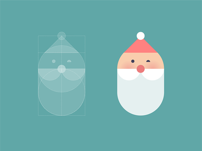 Christmas is coming icon face beard hat holiday character illustration santa year new logo christmas
