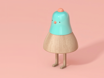 toy green toy people modeling wood illustration icondesign icon cinema4d character c4d 3d