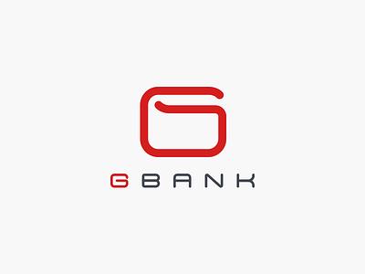 Gbank logo design purse account money game finance icon mark branding logo bank g wallet