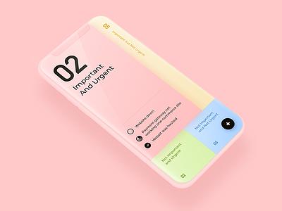 To do list App Concept design ios iphonex ux ui app list todo target urgent important pink task