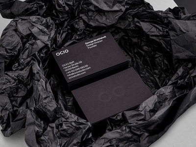 OCIO Business Cards quality emboss black gmund paper card busines card branding design graphic
