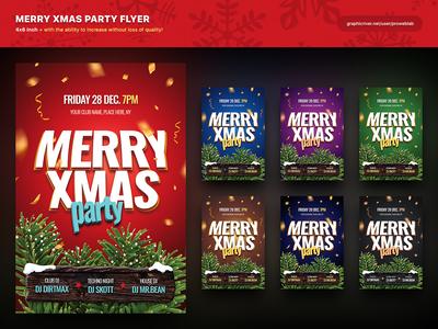 Merry Xmas Party Flyer (PSD)