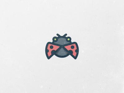 The Simplest Ladybug Logo  logo ladybug icon simple red black cute creative circle identity branding mark