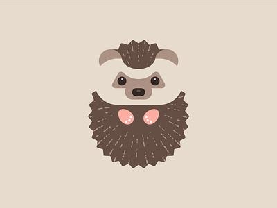 Hedgehog illustration animal simple cute baby logo mascot needle friendly vector child character adorable happy flat hedgehog