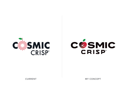 Cosmic Crisp Logo Concept vector crisp logo concept redesign branding concept produce stars cosmic space washington fruit apple branding design simple logo