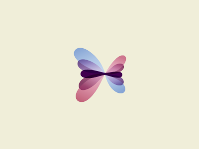 27/2 Initiatives Logo WIP logo butterfly purple red blue transformation marketing consultancy icon caterpillar movement