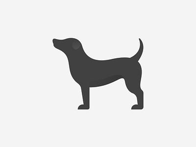 Dog Shadow shadows pet design beautiful shadow silhoutte animal dark mode branding black illustration vector simple icon logo dog