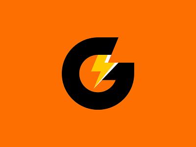 Gatorade Rebrand energy flat gatorade identity lightning bolt thunder thunderbolt concept lightning logotype minimal rebrand clean vector branding design simple illustration icon logo