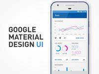 Material Design statistics app