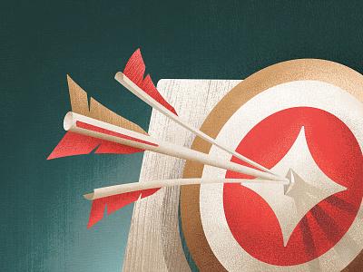 Paragon Target Illustration geometrical texture target split paragon noise illustration hero grain feather bullseye bow arrow archery