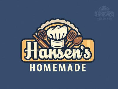 Hansen's Homemade Logo illustration branding brand logo homemade goods sweets sweet food cupcake baking cake confection shop pastry bakery baked