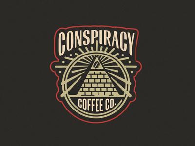 Conspiracy Coffee Co. Rollout rollout brand pyramid light illuminati eye dollar conspiracy coffee bean
