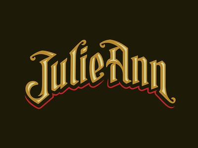 JulieAnn Type serif bold rich green gold wordmark text typography type