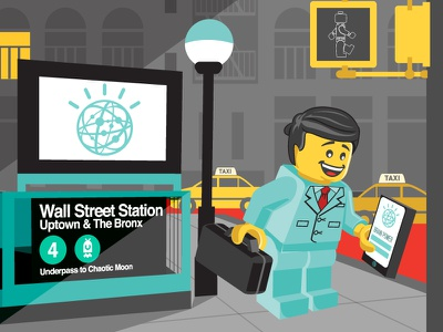 Chaos Theory Watson Illustration nyc wallstreet lego